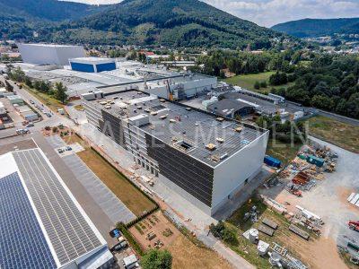 FRIPA, Bau Maschinenhalle, Papiermaschine 7
