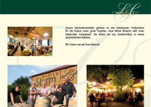 Imagebroschüre, Weingut Sturm